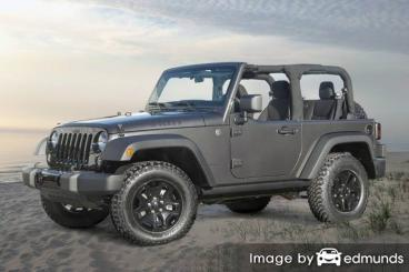 Insurance quote for Jeep Wrangler in Jersey City