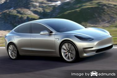 Insurance quote for Tesla Model 3 in Jersey City